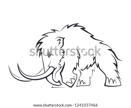 free ice age cartoon mammoth vector download free vector art Baby Mammoth Art black silhouettes of mammoths on a white background prehistoric animals of the ice age in