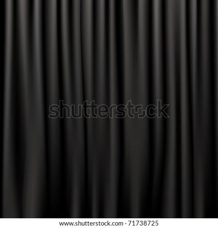 black silk curtains  vector