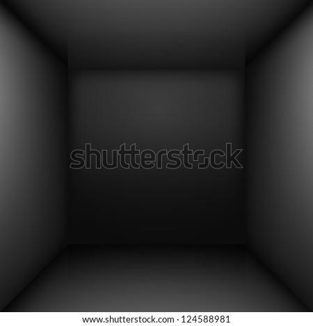 black simple empty room