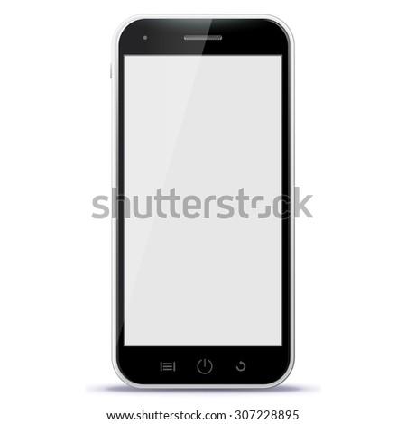 black smart phone vector