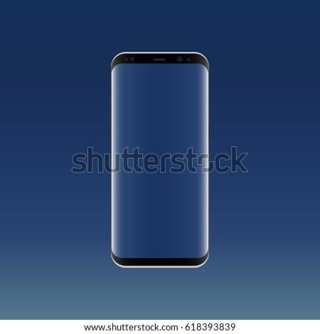 black smartphone samsung galaxy