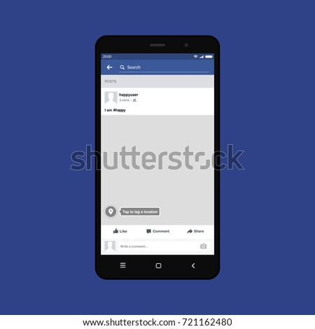 black smartphone with facebook