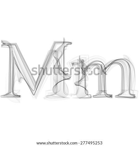 black smoke font on white
