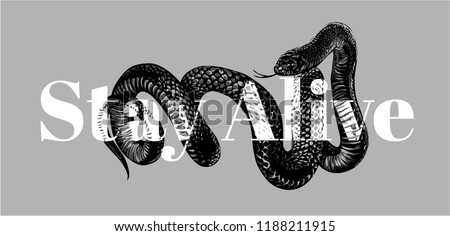 black snake slogan graphic