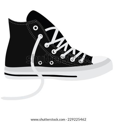 black sneakers  running shoes