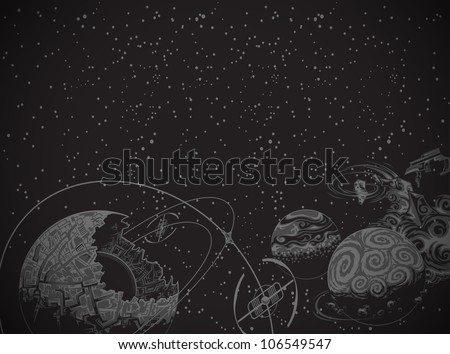 black space background