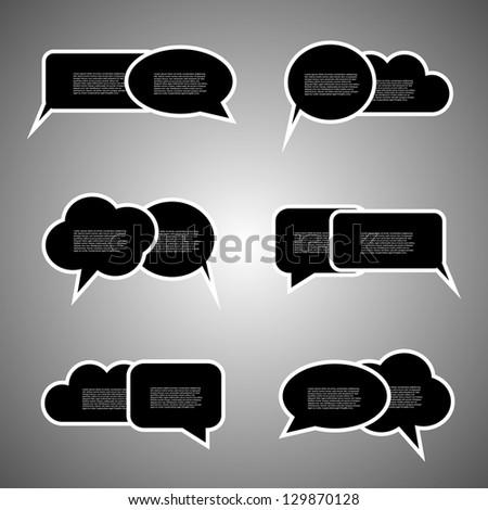 Black speech bubbles