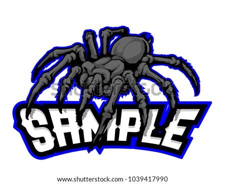 black spider mascot vector
