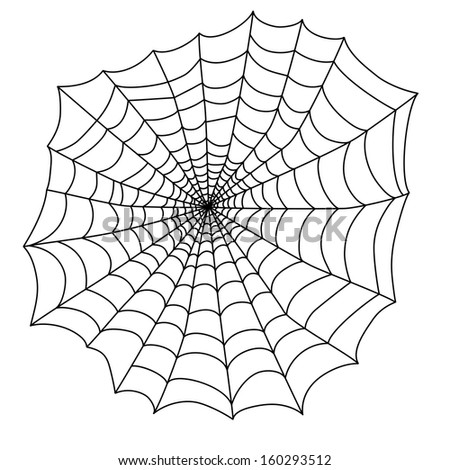 black spider web on an white background for the holiday Halloween vector