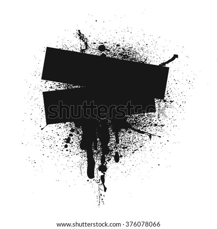 black spray background, vector illustration #376078066