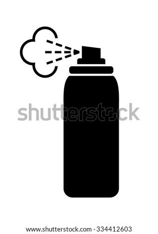 Black spray can icon on white background