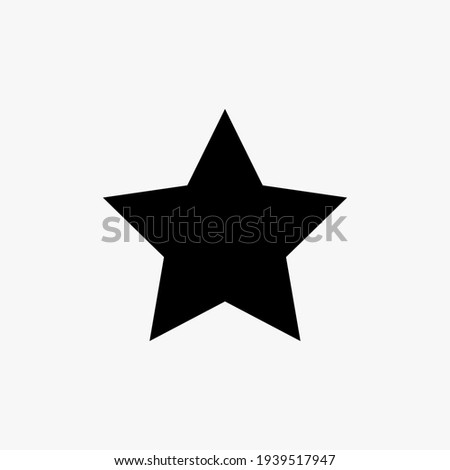 Black star icon vector design on white background