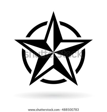 black star shape vector