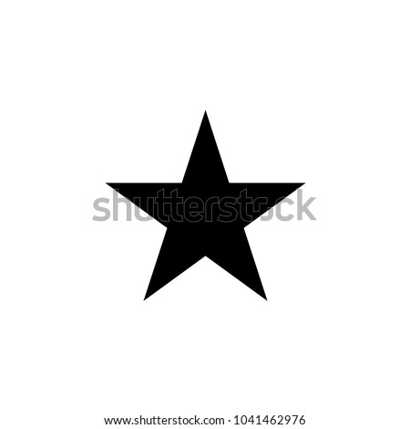 Black star - vector icon
