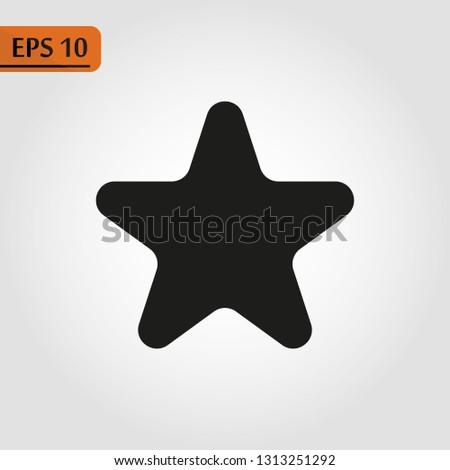 Black star - Vector icon star Icon Vector star icon star- Vector icon.