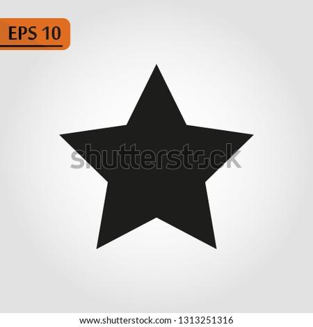 Black star - Vector icon star Icon Vector star icon star- Vector icon. eps10