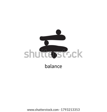 Black stones in balance, zen symbol. Logo for yoga and meditation studios Stock fotó ©
