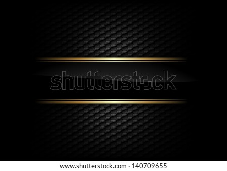stock-vector-black-stripe-with-gold-border-on-the-dark-background