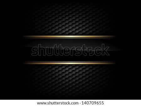 black stripe with gold border on the dark background
