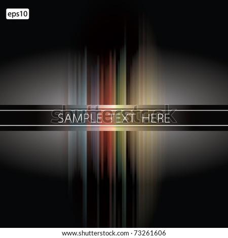 Black striped background / vector