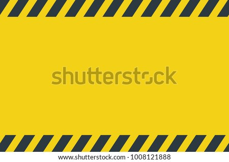 Black Stripped Rectangle. Blank Warning Sign