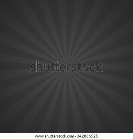 black sun rays vector