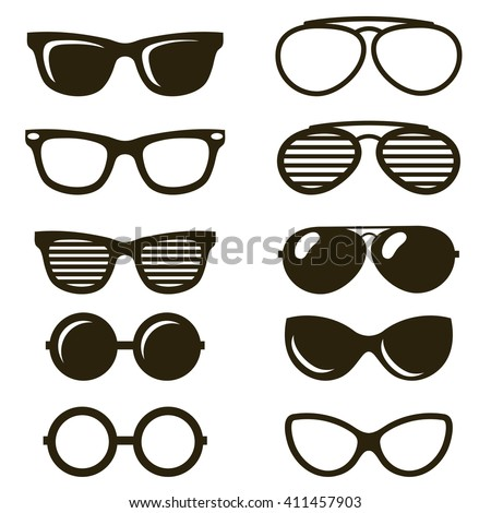 Stock Photo black sunglasses set