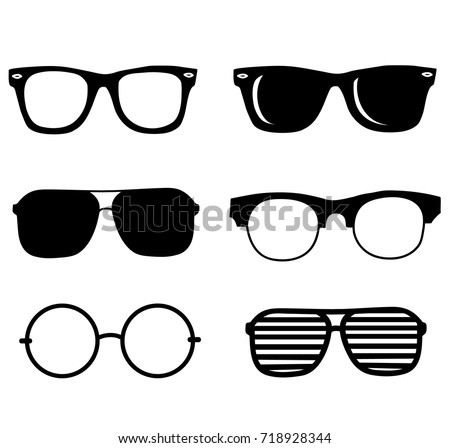 Shutterstock black sunglasses set