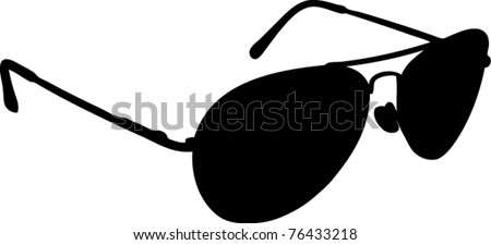 black sunglasses, vector