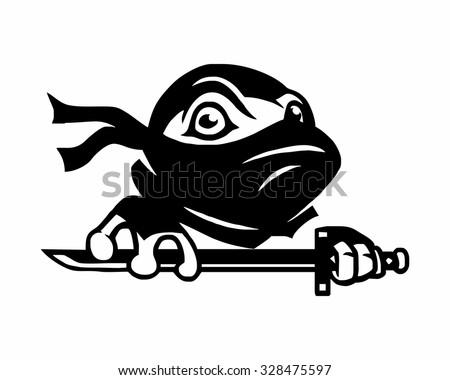 black superhero mask turtle