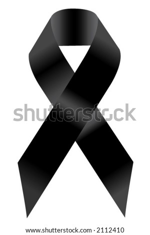 Black Support Ribbon