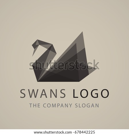 black swan logo sign emblem