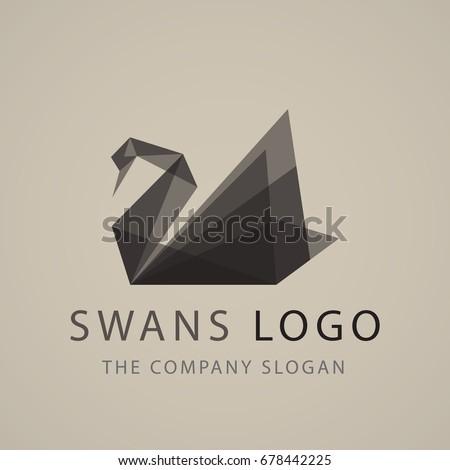 black swan logo sign emblem