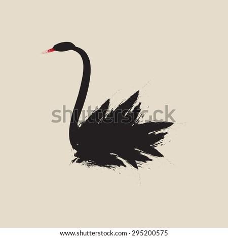 black swan sign illustration
