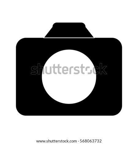 Shutterstock Black symbol camara icon image, vector ilustration design
