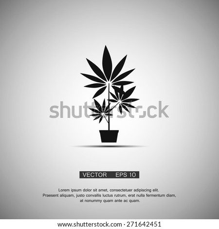 black symbol growing marijuana