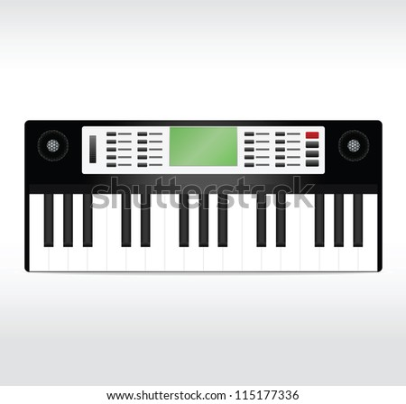 Black synthesizer. Vector illustration