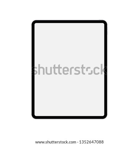 black tablet computer mockup