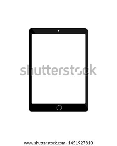 Black tablet illustration on white background vector