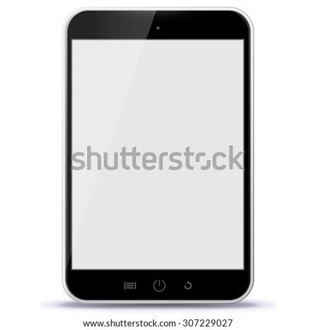 black tablet pc vector