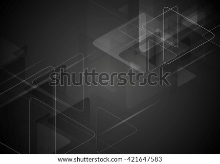 black tech background with