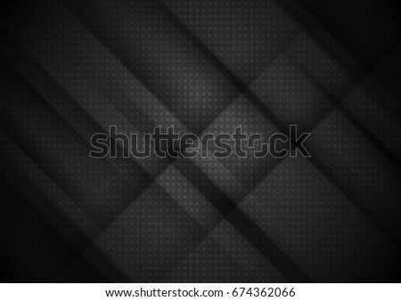 black tech stripes abstract