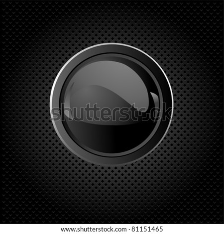 Black texture background with  button