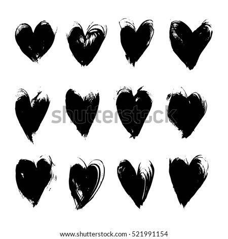 black textured smears heart