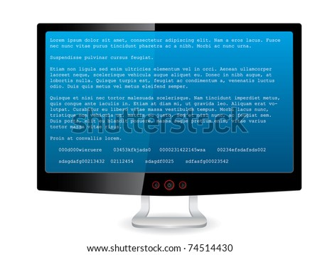 black tft screen with error