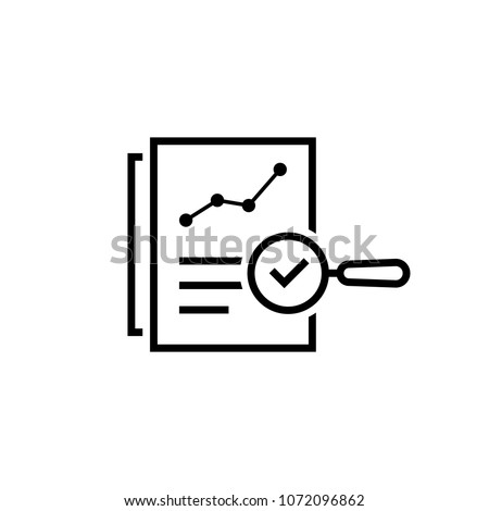 black thin line assessment result. concept of bill, invoice or description research and internal feedback. flat linear regulatory policy logotype graphic stroke art design isolated on white background