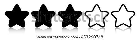 black three star icon rating