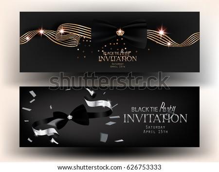 black tie party invitation