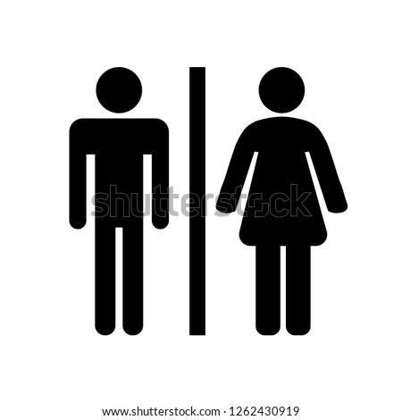 Black toilet icon on white background. Vector illustration.