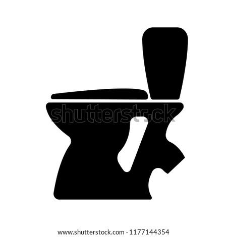 Black toilet silhouette